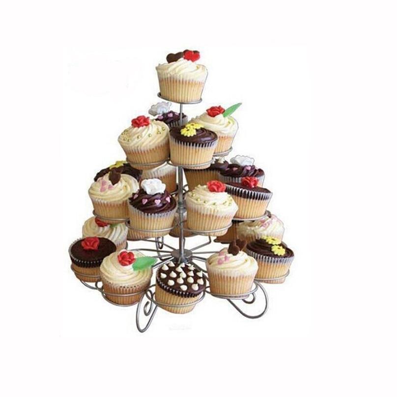 HOT Christmas 4 Layer Cupcake Stand Muffin Holder Wedding ...