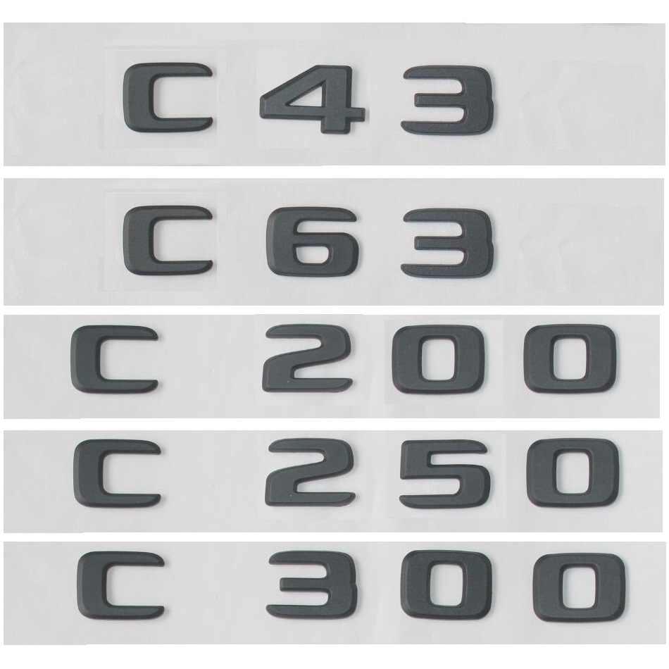 שחור שטוח W204 W205 סמל מדבקת C63 C200 C250 C300 4MATIC האוטומטי רכב אותיות תא מטען אחורי כוכב Emblema CLA עבור מרצדס בנץ AMG
