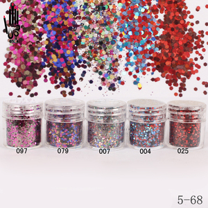 1 Jar/Box 10ml 5 Mix Multicoloured Nail Glitter Powder Sequins Powder For Nail Art Decoration Optional 300 Colors Factory 5-68