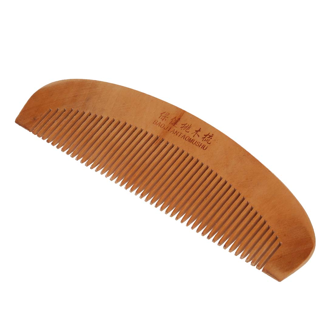 6.5 Length Dual Head Wooden Toothed Anti-static Hair Comb For Women