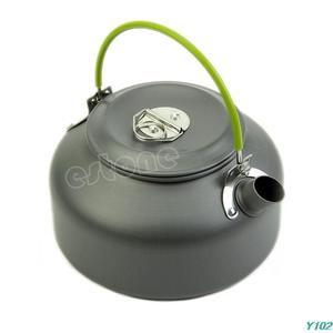 0.8L Ultra-light Camping Survival Water Kettle Teapot Pot Aluminum With Mesh Bag +Free shipping-Y102