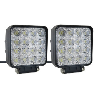 1 Pair 4 inch 48W LED Work Light Bar for Off road Car Truck Tractor Boat 9-32V DC 2300LM Spot Flood Light Bar image