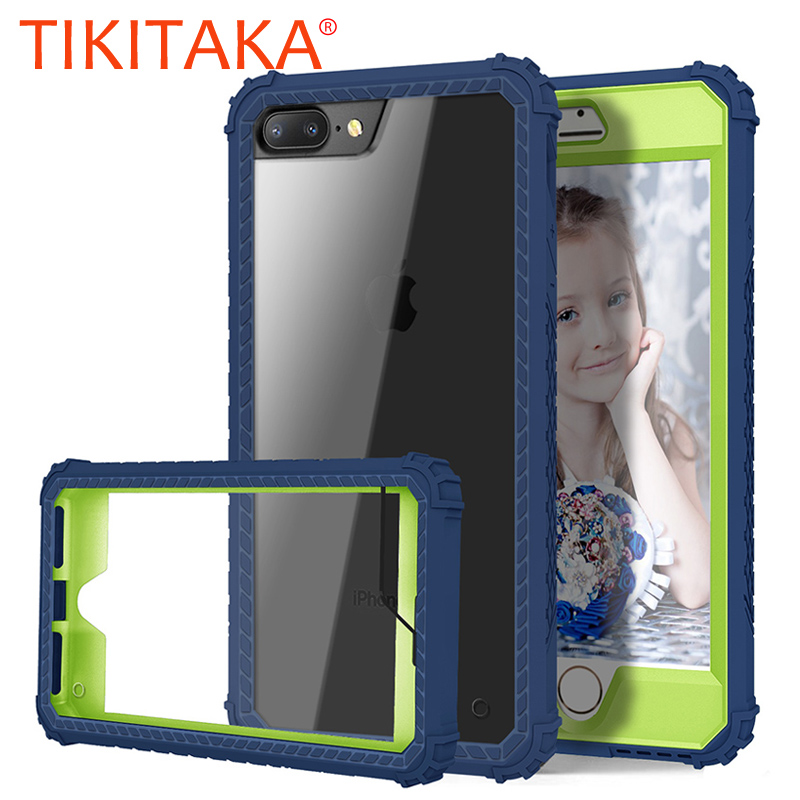 Shockproof Armor Case For iphone 7 8 Plus Cover High Quality Durable PC+TPU 3 Layers Hybrid Full Body Protection Phone Cases
