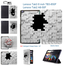 MTT Blasting Wall Case for Lenovo Tab 3 8 TB3 850F/TB3-850M Leather Cover Case For Lenovo Tab 2 A8-50 A8-50F A8-50LC 8″ Tablet