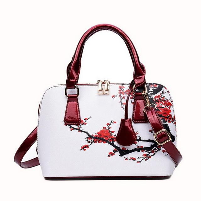 Litthing Flower Luxury Handbags Women Bag 2018 Designer Shopper Bag Floral Shell Shoulder Ladies Hand Bag Bolsa Feminina