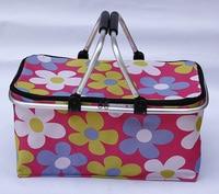 Outdoor lunch basket shopping bag folding picnic bag insulation cold bag