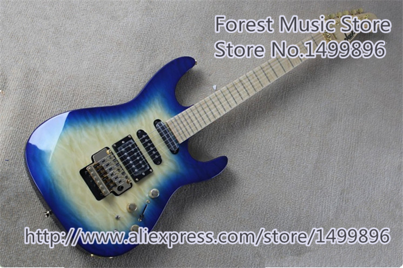 New Arrival Maple Fingerboard Jackson Electric Guitars China Quilted Finish Mahogany Body Free Shipping china custom shop blue quilted finish jackson electric guitar 7 string mahogany body for sale