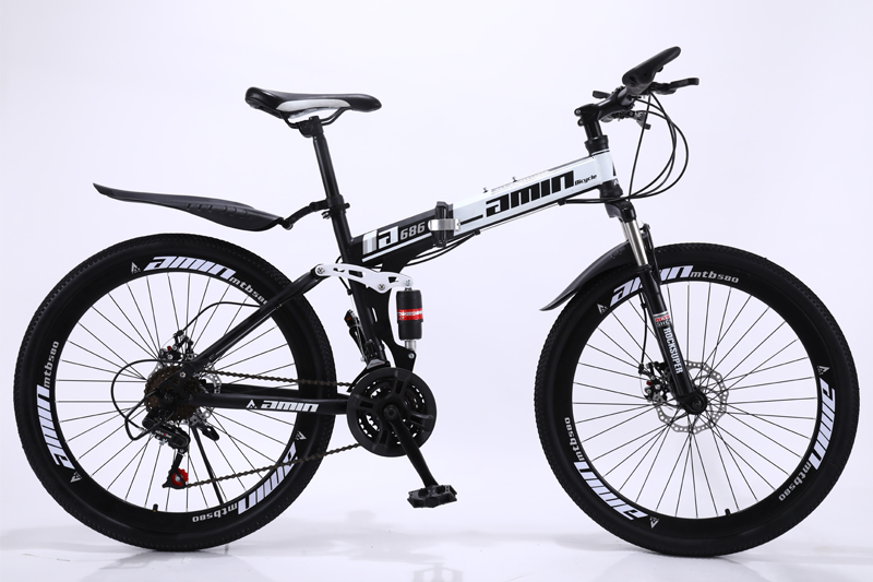 HTB1UMhkSAzoK1RjSZFlq6yi4VXas 24 26inch folding mountain bike 21 speed double damping 6 knife wheel and 3 knife wheel bicycle double disc brakes mountain bike