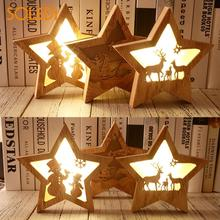 Wooden Stars Christmas
