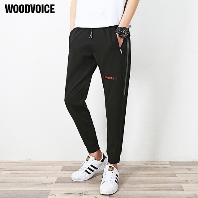 33fda836f8 US $18.67 49% OFF|Woodvoice Brand Clothing Men's Casual Pants Men Slim  Lacing Closing Men Top Quality Joggers Male Casual Fashion Trousers K171-in  ...