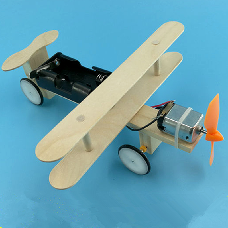 Children DIY Technology Small Electric Planes Student Science Experiments Toy DIY Children's Toy Materials
