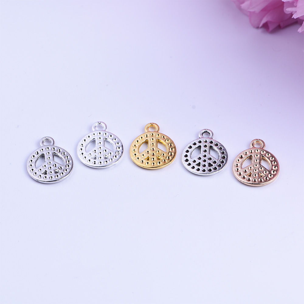 Hot Fashion 50pcs/lot 20*16mm Antique Bronze Plated Peace sign Alloy charms Pendant Jewelry Findings