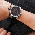 Ochstin marca moda casual homens relógio cronógrafo relógios masculino militar do exército sports relógio de quartzo de couro à prova d' água relógio masculino