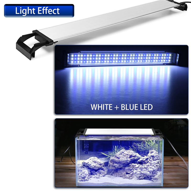 144 Led Fish Tank Lamp Aquarium Lights 2835smd 90CM Extensible AC100-240V For 85-100cm Fish Tank Aluminum+Acrylic Material