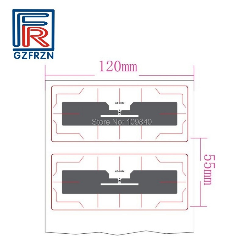 200pcs Passive UHF RFID Windshield Stickers with Alien H3 chip parking vehicle tag/label size 110*45mm 50pcs 74 21mm rfid gen2 uhf paper tag with alien h3 chip used for warehouse management