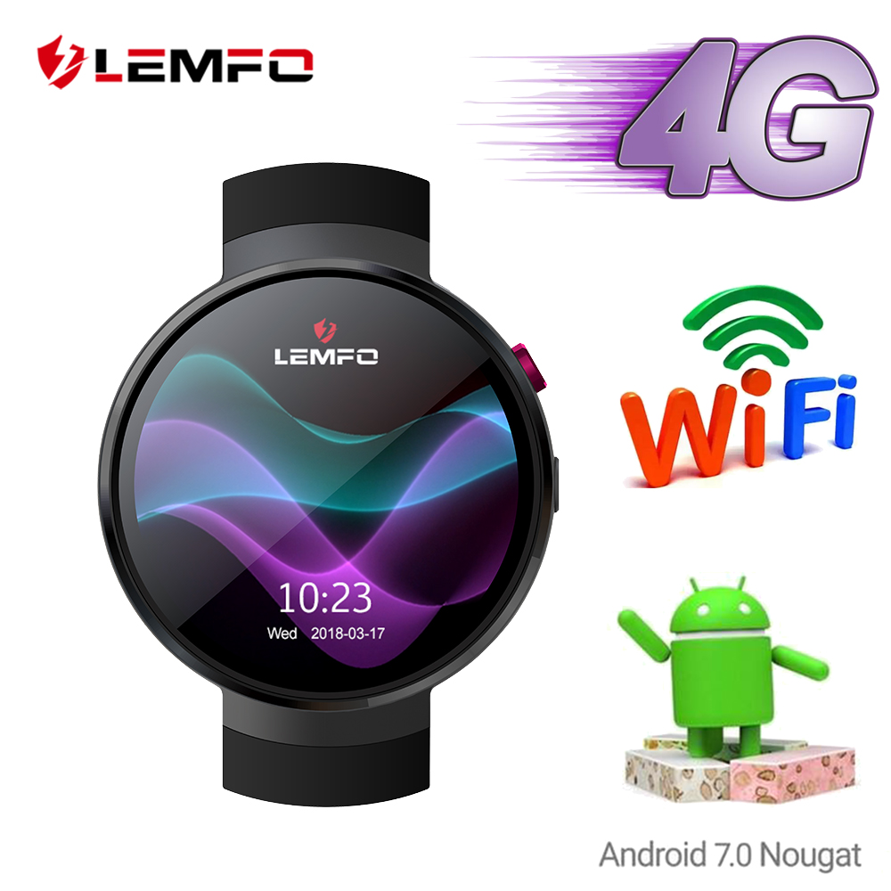 LEMFO LEM7 Smart Watch Android 7.0 Smartwatch Men 4G Watch Phone Heart Rate 1GB + 16GB Memory With 2MP Camera Translation Tool