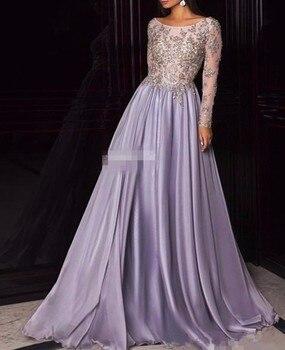 Elegant Elie Saab Long Sleeve Evening Dresses On Sale 2019 Scoop Neckline Prom Party Dresses Cheap vestidos de noite longos