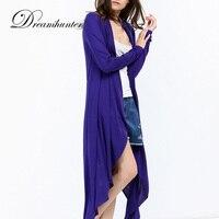 Long Sleeve Plus Long Cardigan Thin Jacket Casual Solid Shawl Long Sweater Coat Spring Autumn Women