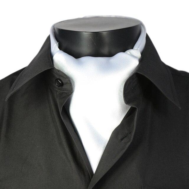 2017 British Hombres Bufanda Bufanda de la Manera Superior De La India Nueva llegada De Lisle Color Sólido Masculino Brillante Traje Corbata de Regalo de Boda