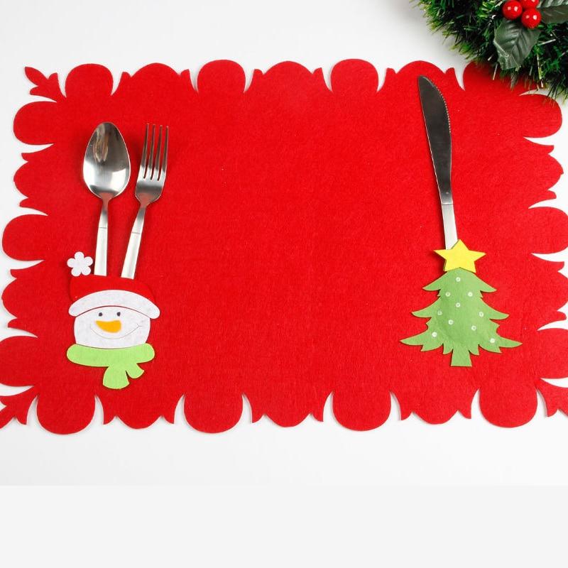Bambino Rosso Bello Di Natale Tovaglietta Tovaglia Di Natale Babbo Natale Pupazzo Di Neve Modello Tovaglia Tavolo Di Casa Accessori Decorativi Ineguale Nelle Prestazioni