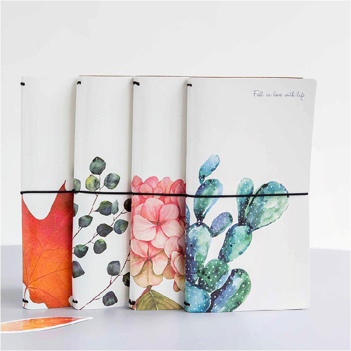 Image 2 - Kawaii Cute Flower Leaf Notebook Stationery Diary Agenda Pocket Notepad Planner Weekly Book Travel School Office Supplies sl2056-in Notebooks from Office & School Supplies