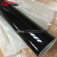 60CMx500CM/LOT Good quality Glossy Vinyl Car Decal Wrap Sticker Black Gloss Film Wrap Retail For HOOD Roof Motorcycle Scooter