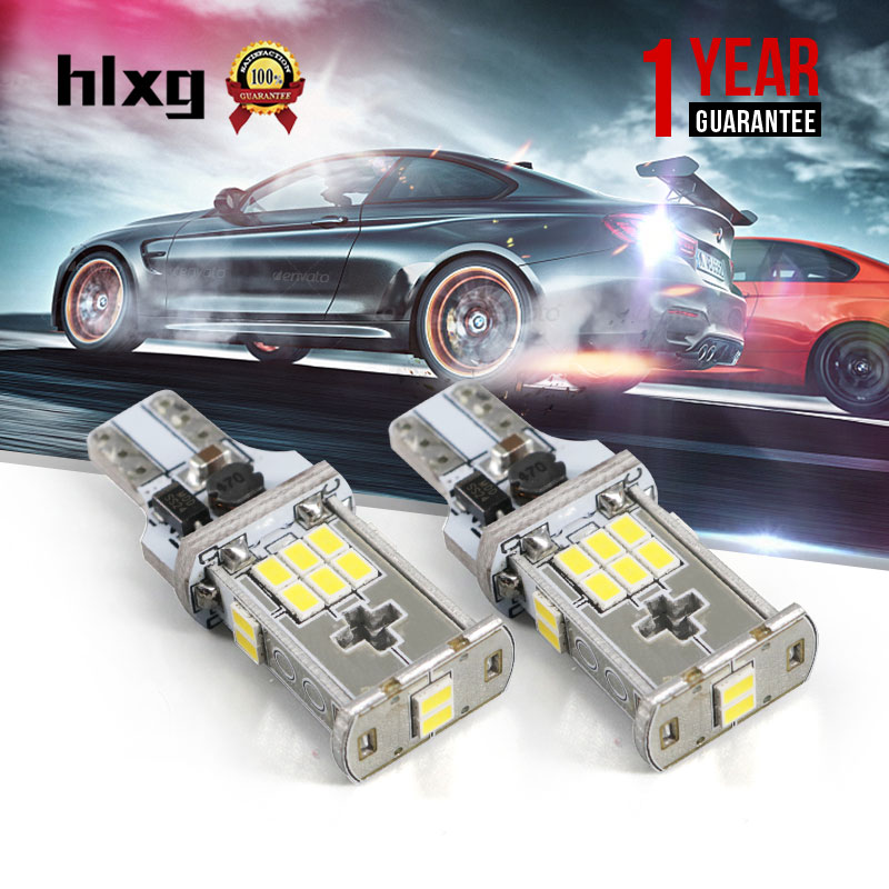 2Pcs T15 912 921 W16W LED 28W 2835SMD C ree Chip Auto Bulbs For Car Backup R everse Lights Signal Lights 6000K White 12V 24V 2 x error free super bright white led bulbs for backup reverse light 921 912 t15 w16w for peugeot 408