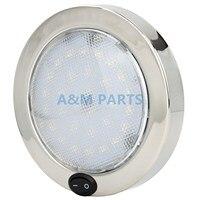 Stainless Steel Boat Caravan Cabin Dome Light 12V P4 LED Interior Light 140mm