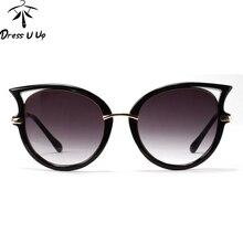 Металлический Каркас Сексуальная Солнцезащитные Очки Женщины Марка Дизайнер Cat Eye Солнцезащитные Очки Женщины Óculos De Sol женщина для Gafas lunette de soleil