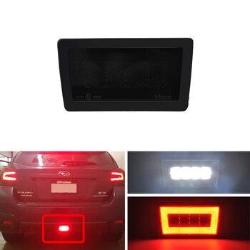 Smoke Lens F1 Style Led Rear Fog Brake Backup Reverse Lights Assembly Kits Fit For Subaru WRX STI Impreza GP XV