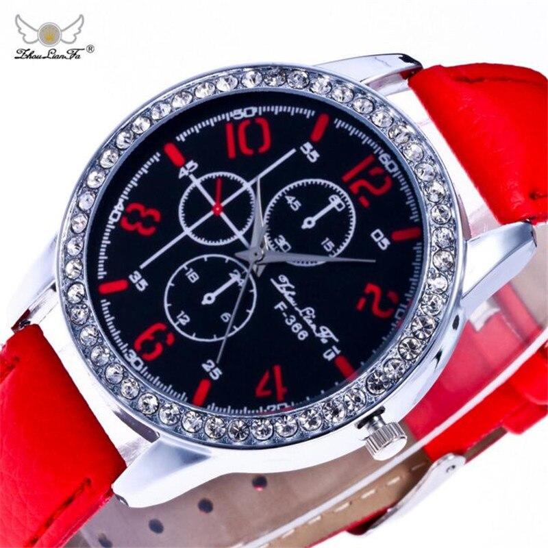 Geneva Diamond Decorative Digital Red Leather Strap Luxury Ladies Quartz Watch Relojes Mujer 2017 Women Watches Montre Saat B372 digital diamond dial leather strap ladies luxury quartz watch relojes mujer 2017 women watches horloges vrouwen megir clock b356
