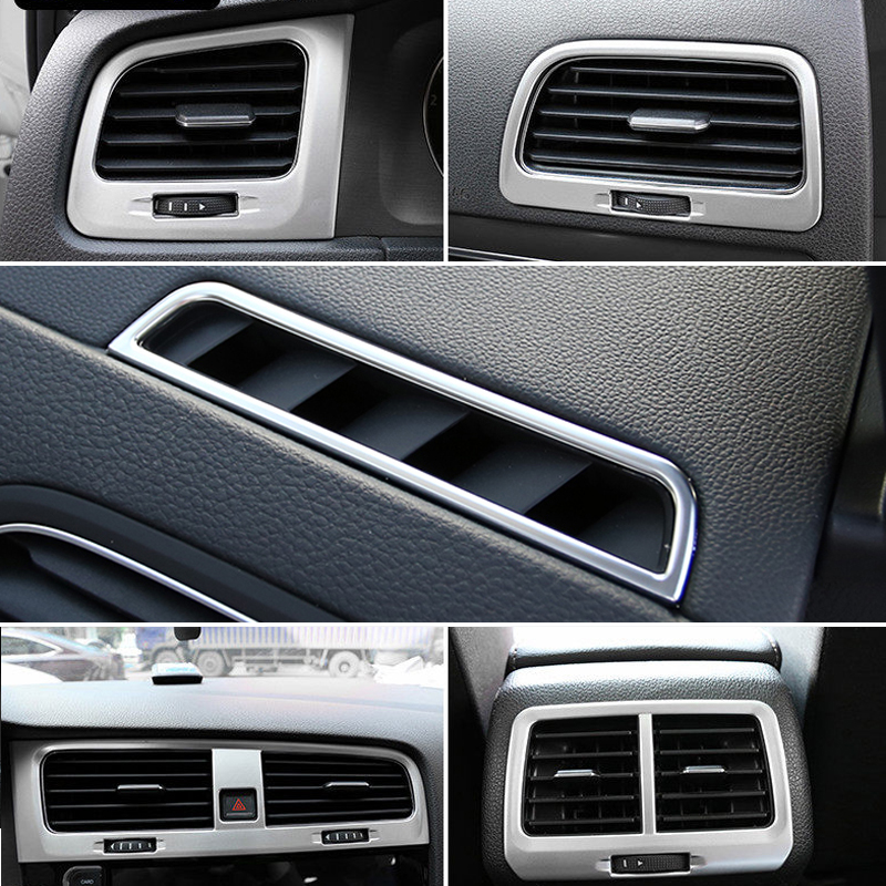 (Only Fit For Left Hand Drive) Interior Air Outlet Vent Cover Trim Kit ABS Matte 6pcs For VW Volkswagen Golf Mk7 2013-2018