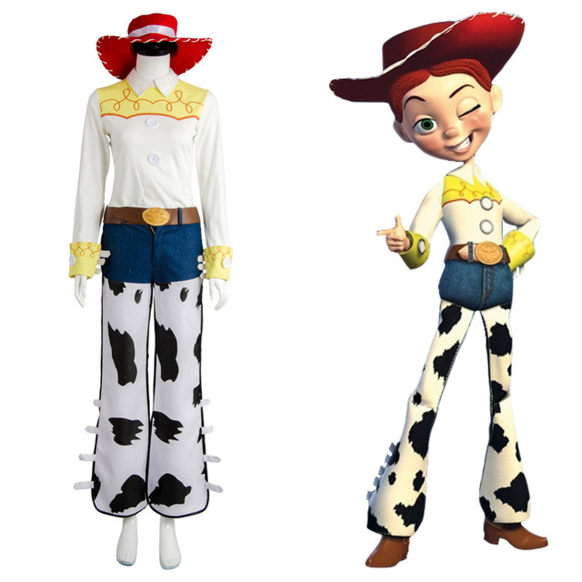 1c8530bcbb7ca Toy Story O Yodeling Vaqueira Jessie Outfit Cosplay Halloween Fantasias de  Carnaval Para Adultos Conjuntos Completos