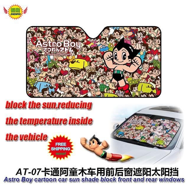 Accesorios del coche de Dibujos Animados Láminas de Astro Boy ventana parasol frontal Cubierta UV Protegen la Película Del Coche Del Parabrisas Del Visera A-7 Freeshiping