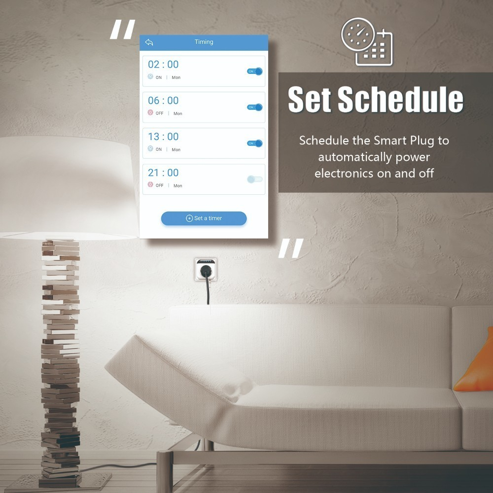 Nashone Thermostat Temperature Controller Smart Socket 220v Thermostat Timing Countdown Bluetooth APP Control for IOS Android in Temperature Instruments from Tools