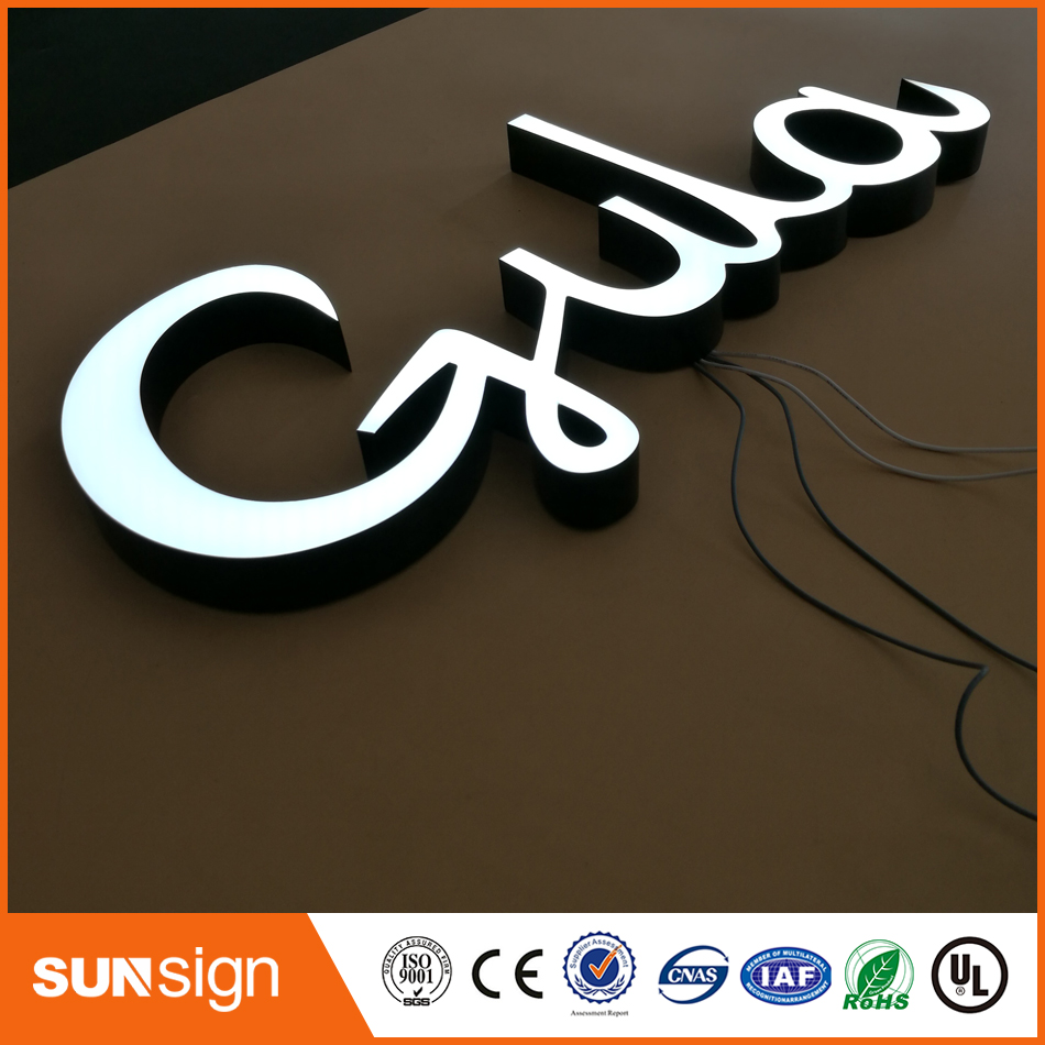 High Polymer Resin Made Led Lighted Letter Sign