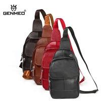 GENMEO Genuine Leather Crossbody Shoulder Bag New Cowhide Natrual Leather Handbag Men Messenger Bag Bolsa Feminina