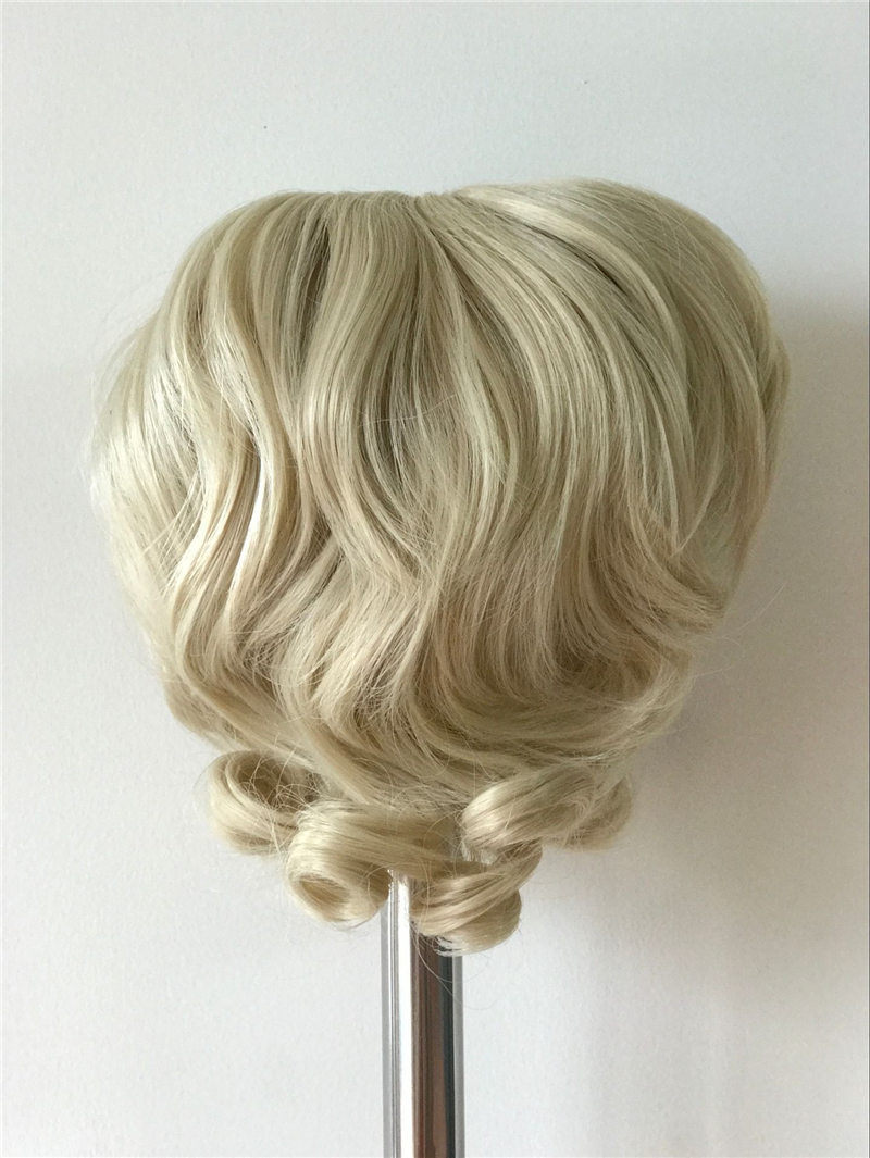 NPK Gold Curl Hair Wig For 50-58cm Reborn Dolls Hot Sell DIY Doll Accessories Fits 20-23 Inch Silicone Reborn Baby Doll