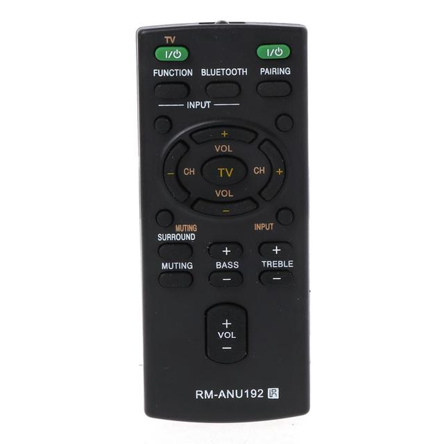 RM ANU192 for Sony Smart LCD LED TV HT CT60BT SA CT60BT SA CT60 Sound Bar Television Controller Replacement