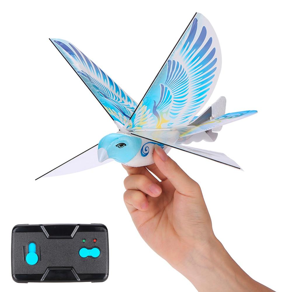 Mini Foam Anti-Crash RC Drone TECHBOY 98007+ 2.4GHz RC Bird Remote Control Authentic E-Bird Flying Bird Aircraft Plane RC Toys Собака