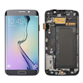 For Samsung Galaxy S6 Edge SM-G925F G925F LCD Display + Touch Screen Digitizer + Bezel Frame Full Assembly , Free Shipping