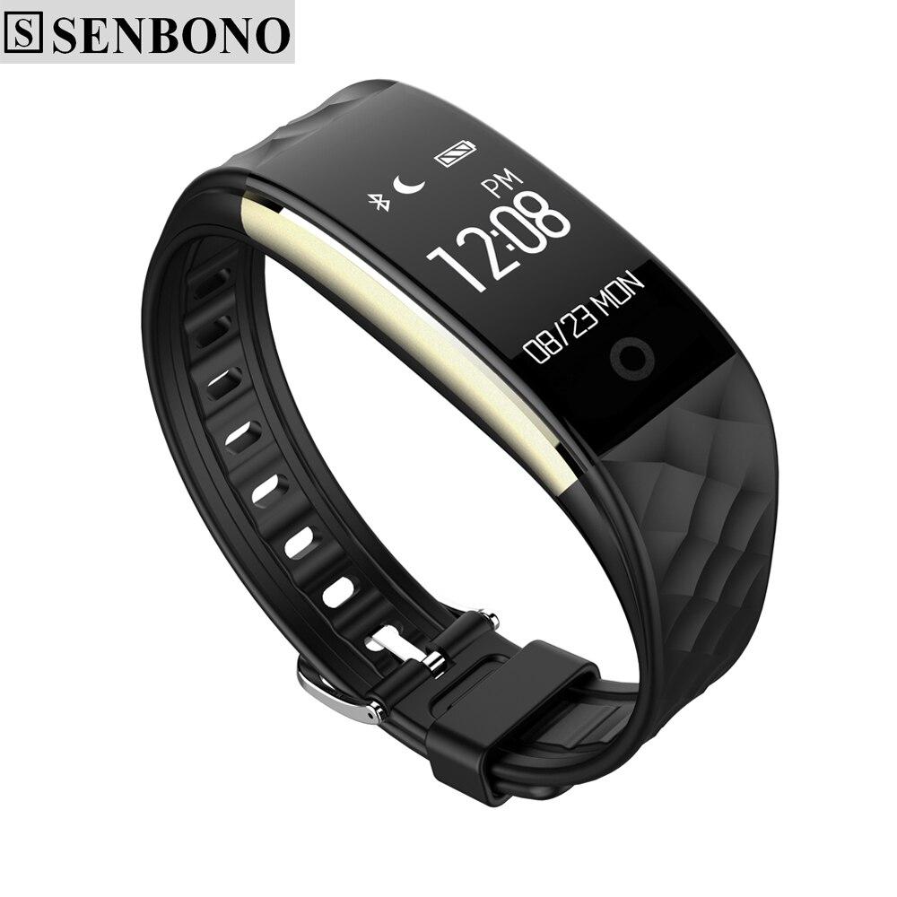 Senbono sbn-s2 Спорт Bluetooth Smart запястье браслет поддержка сидячий анти-потерянный сердечного ритма Водонепроницаемый SmartBand