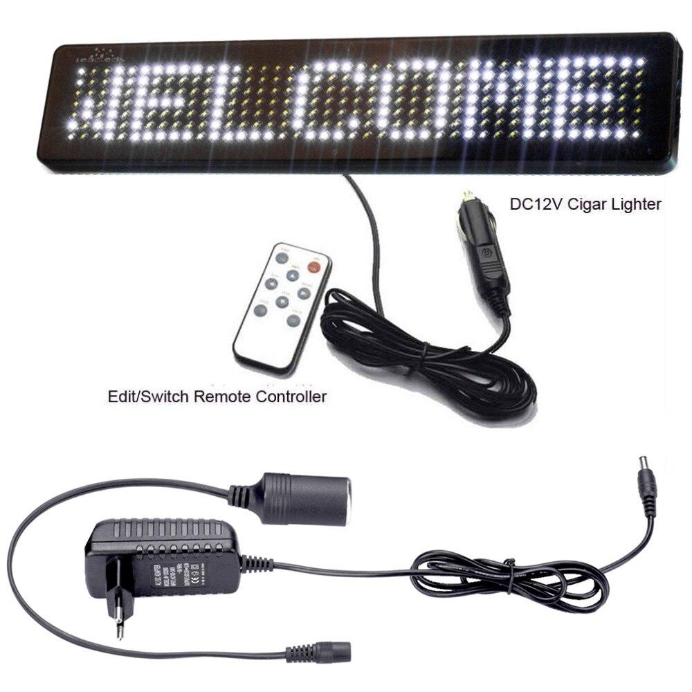 AC 100 240 V Напряжение магазин выход: DC12V автомобильный светодиодный дисплей DIY белый прокрутка новости дисплей