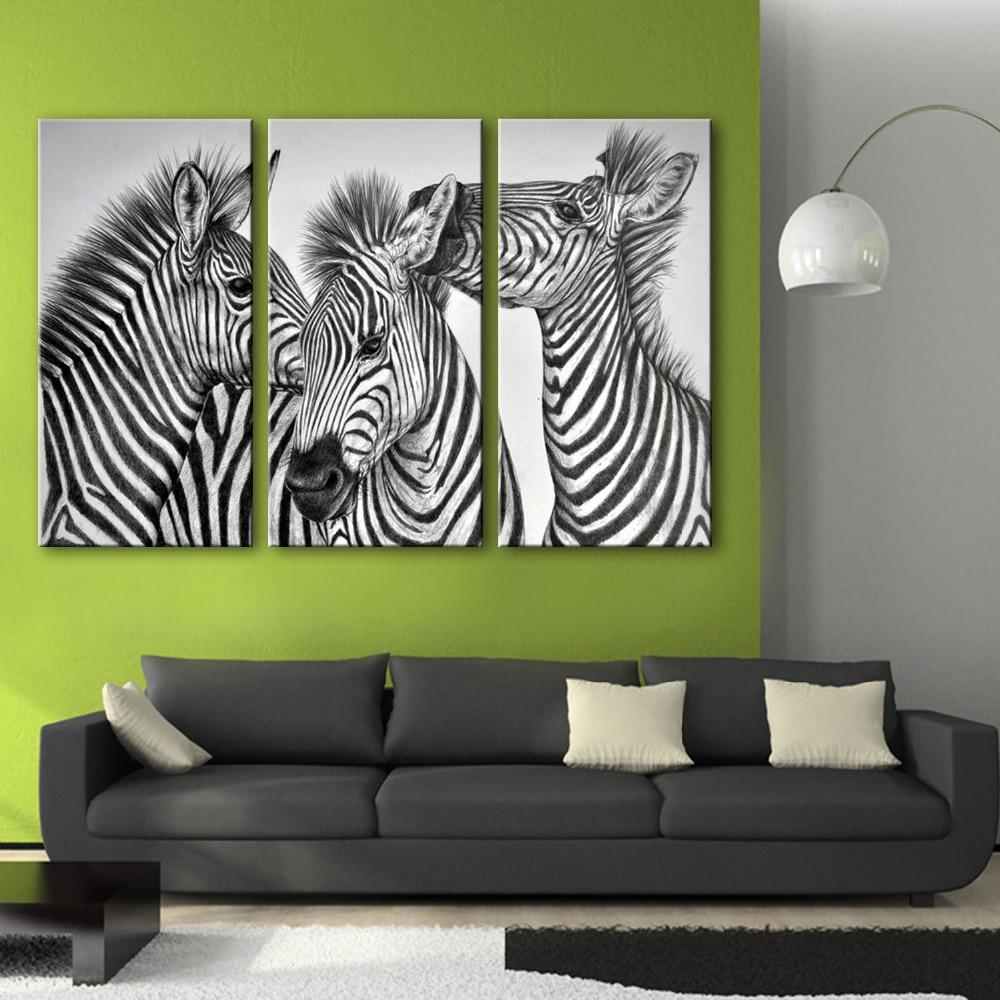 Modern Wall Paintings Living Room Online Get Cheap Zebra Print Wall Art Aliexpresscom Alibaba Group