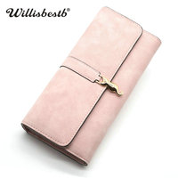 Ruzzylee Brand Long Women Wallet Ladies Clutches Hasp Purse Fashion Designer Luxury Purses Female Wallets Card