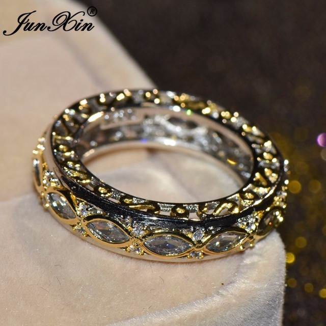 Aliexpress.com : Buy JUNXIN Simple CZ Infinity Finger Ring ...