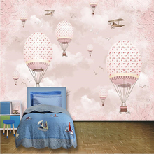 beibehang Customize any size wallpapers fresco photo personality warm cartoon hot air balloon childrens wall decorative