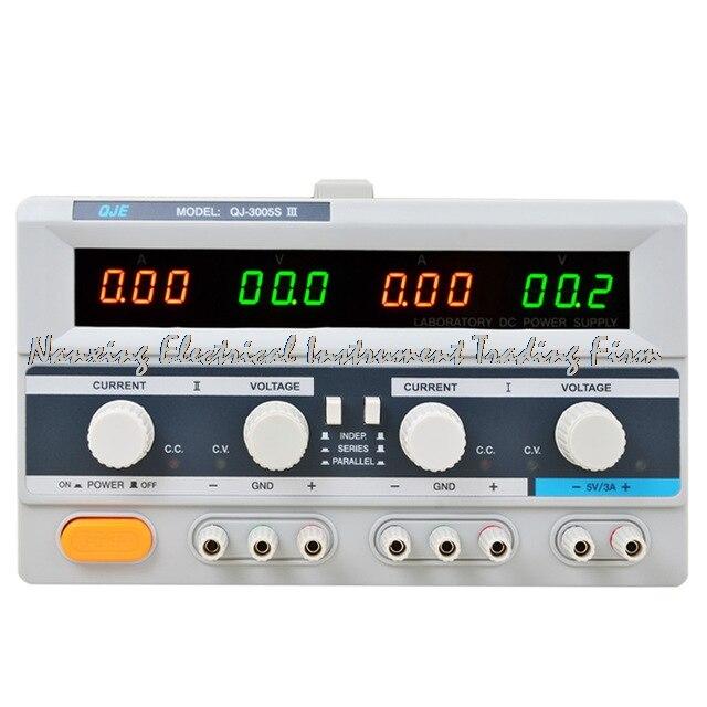 Быстрое прибытие QJ3003SIII DC Питание лаборатории тройной преобразователь числа фаз 30 В 3A разрешение 100mV 10mA