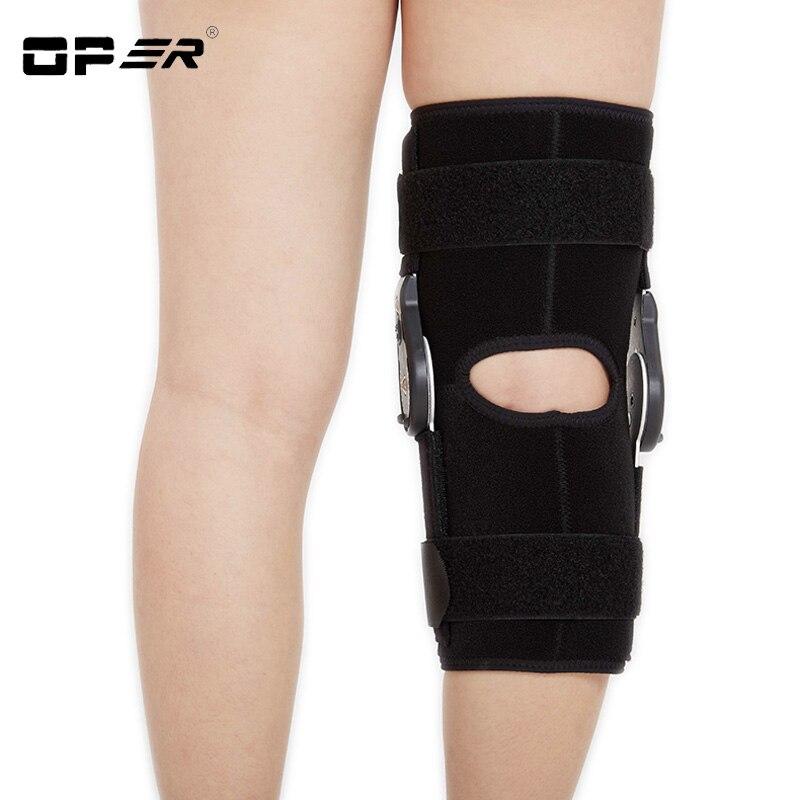 OPER Knee Pads Hinged Orthosis Brace Support Justerbar Medicinsk - Sjukvård - Foto 6