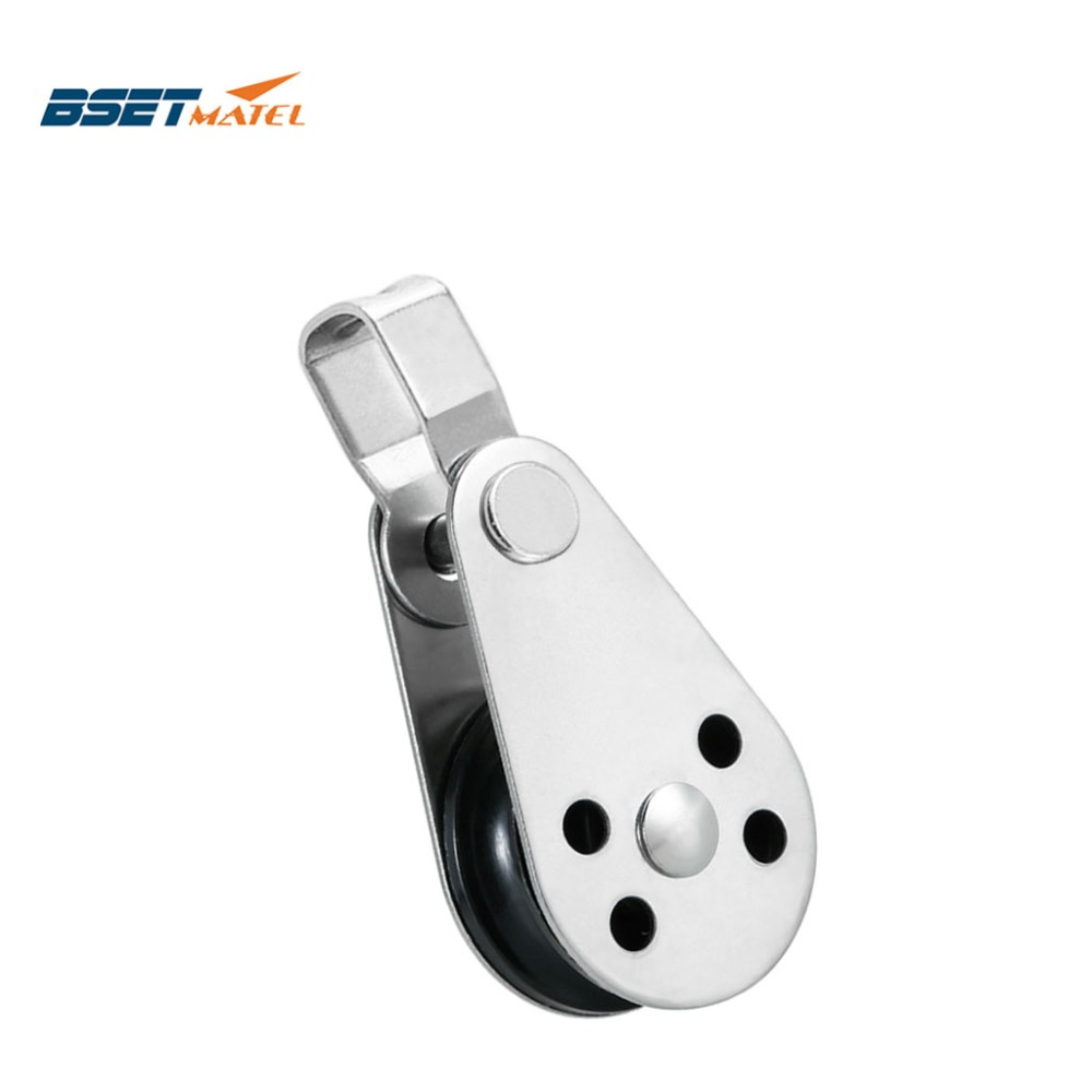 BSET MATEL Stainless Steel 316 Pulley Blocks Rope Runner Kayak Boat Accessories Canoe Anchor Trolley Kit For 2mm To 8mm Rope